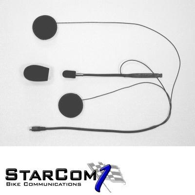Starcom SH-006 headset voor open- en systeemhelm-0